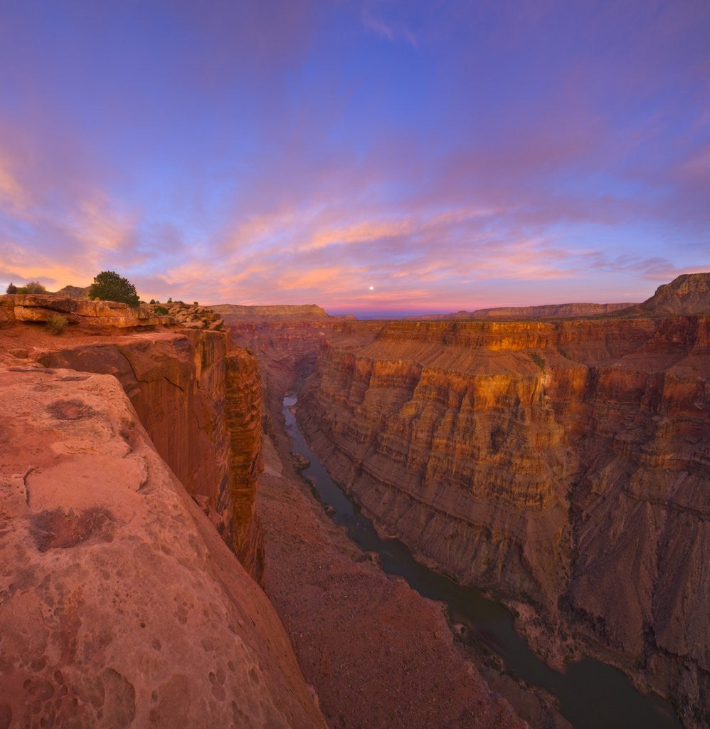 Full moon over Toroweap Point in Grand Canyon National Park