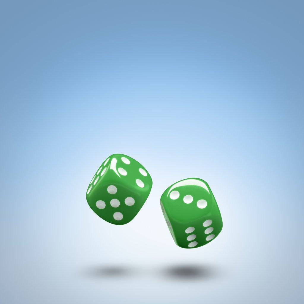 Detail of Green dice by Corbis