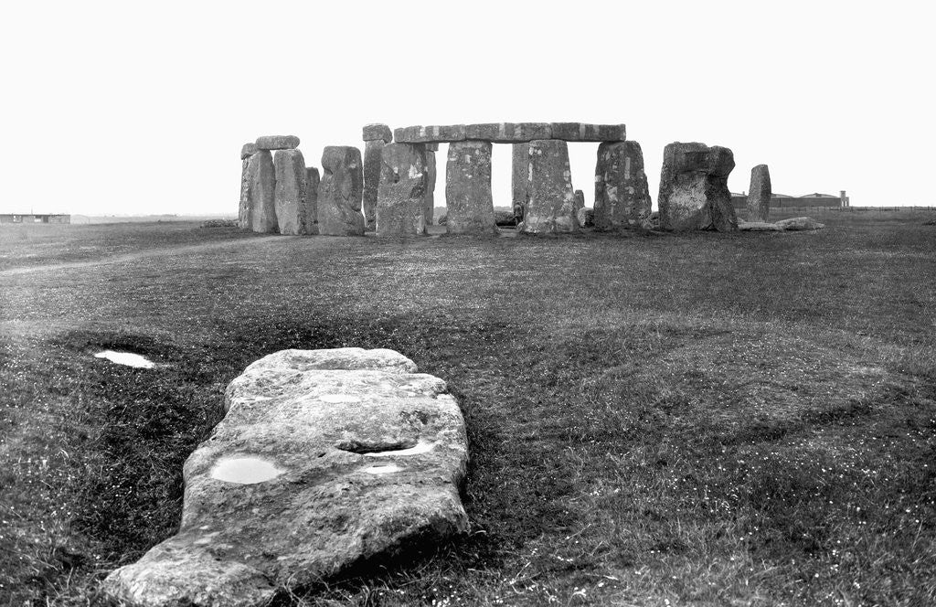 Detail of Slaughter Stone at Stonehenge by Corbis