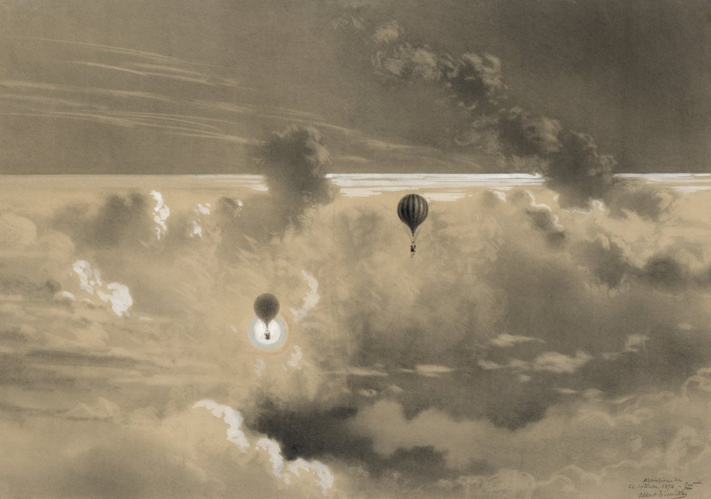 Detail of Drawing of Zenith balloon by Albert Tissandier