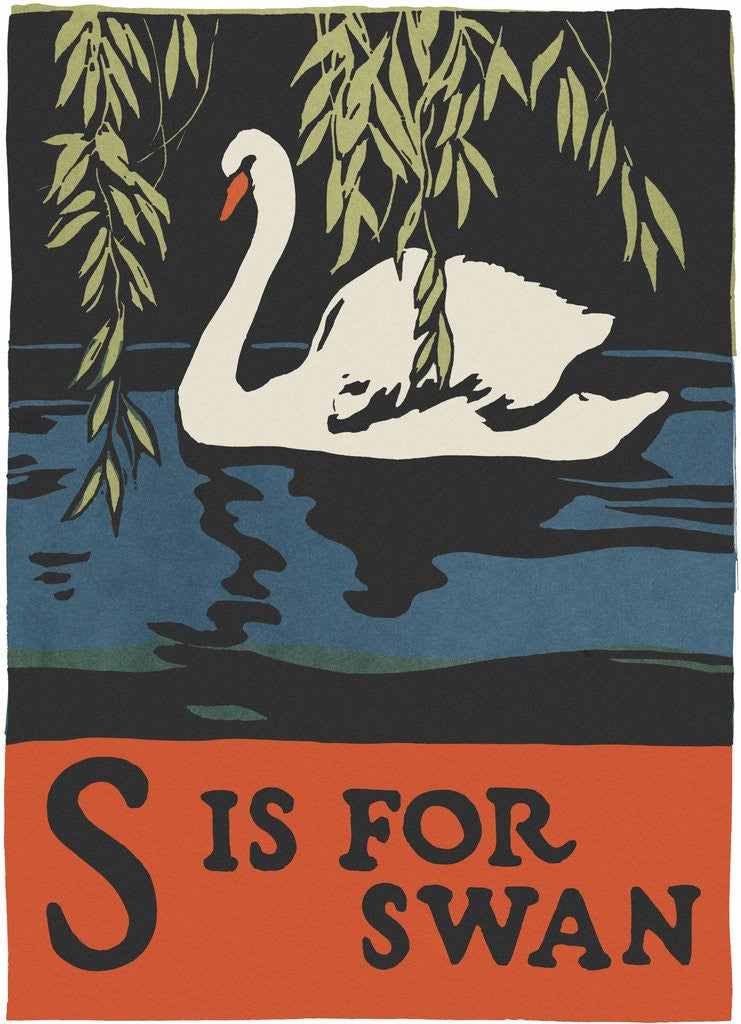 Detail of S is for swan by Corbis