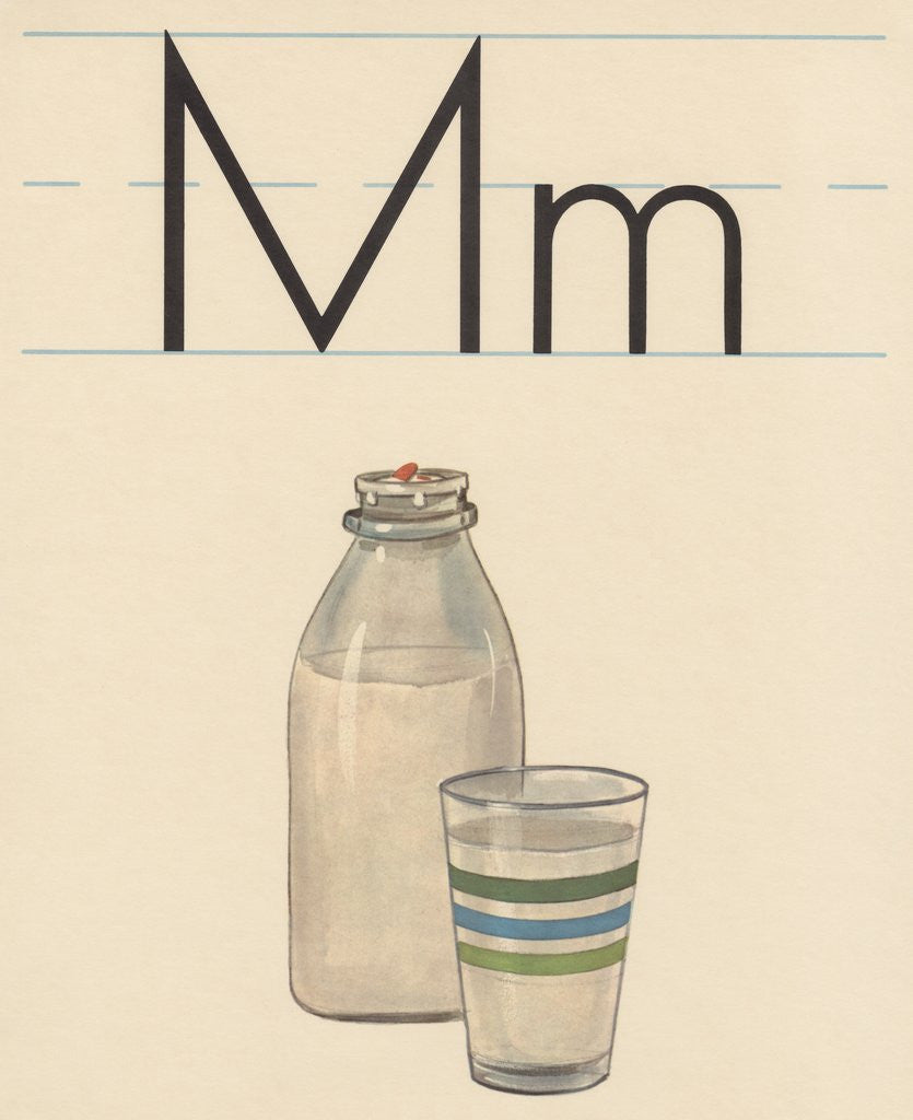Detail of M is for milk by Corbis