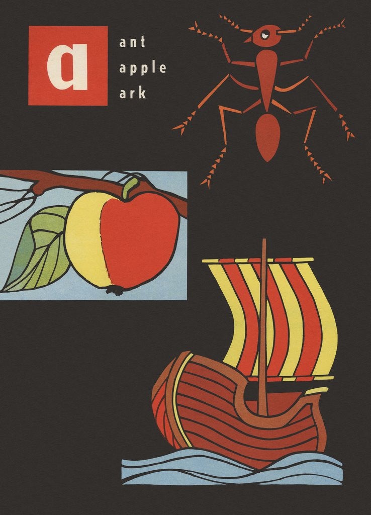 Detail of A is for ant apple ark by Corbis