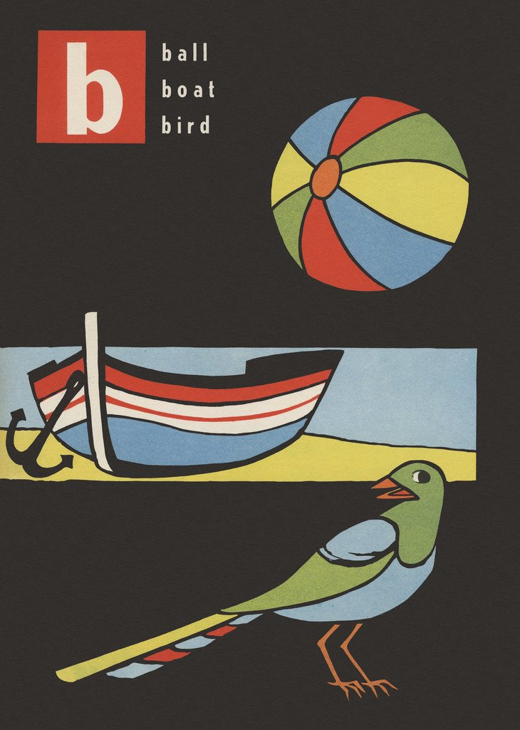 Detail of B is for ball boat bird by Corbis