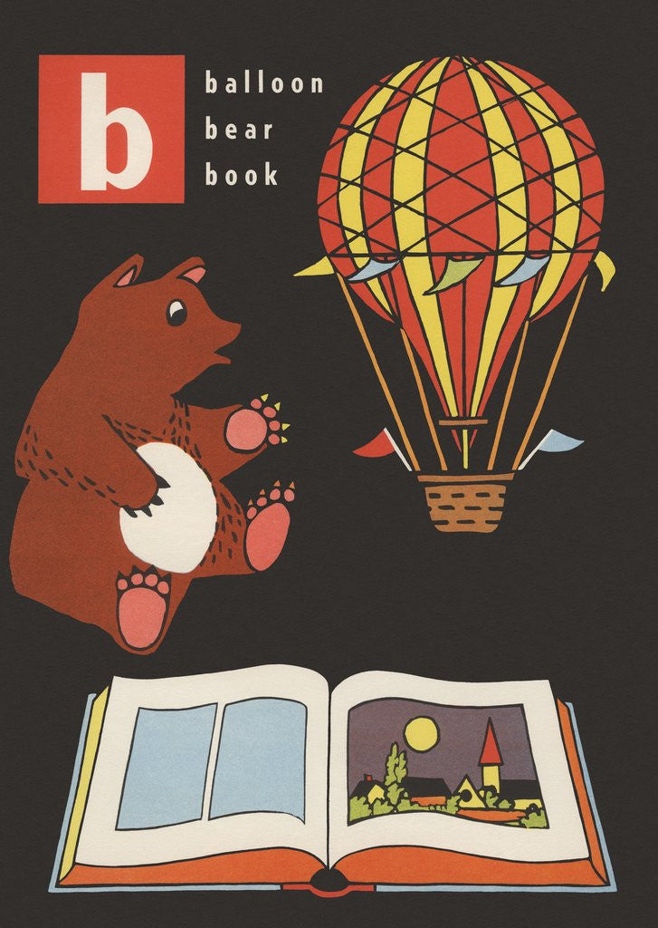 Detail of B is for balloon bear book by Corbis