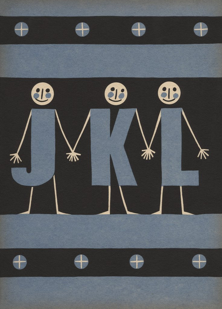 Detail of Personified letters J K L by Corbis