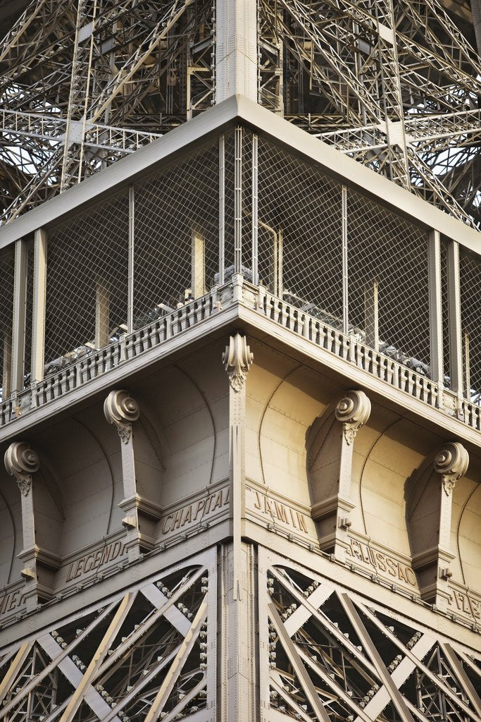Detail of Detail of viewing gallery Eiffel tower, Paris, France by Corbis