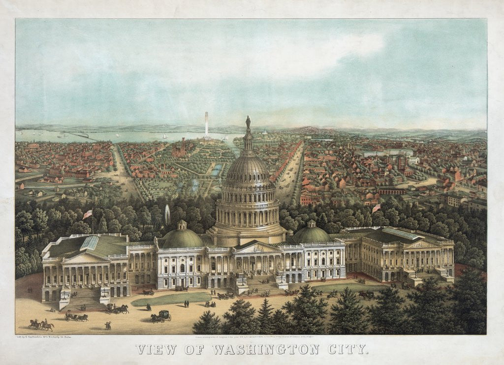 Detail of View of Washington City by Corbis