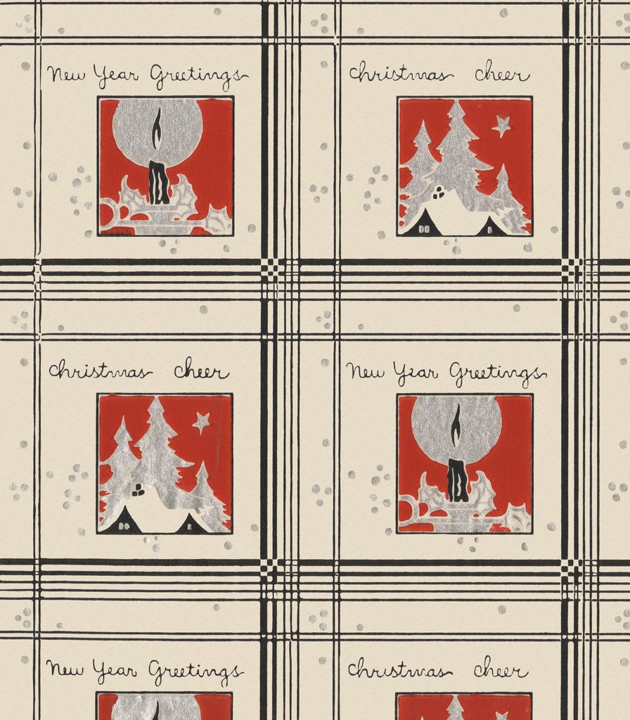 detail of christmas cheer and new year greetings pattern by corbis