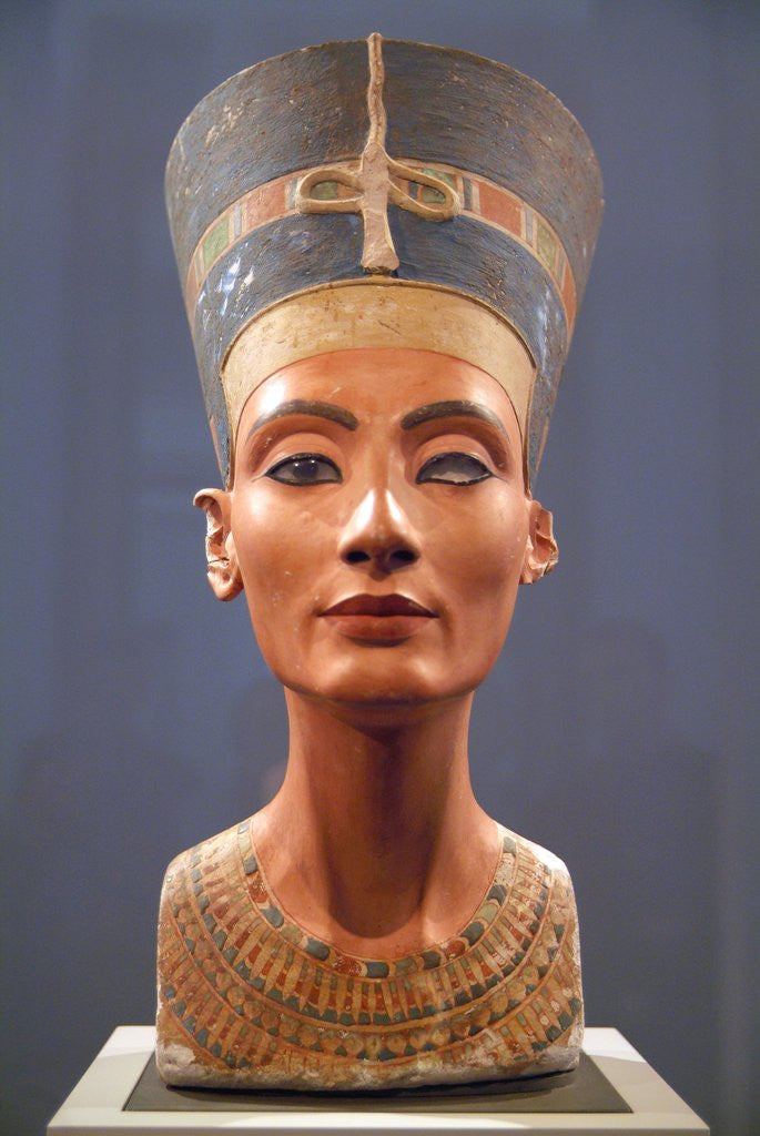 Detail of Bust of Nefertiti by Corbis