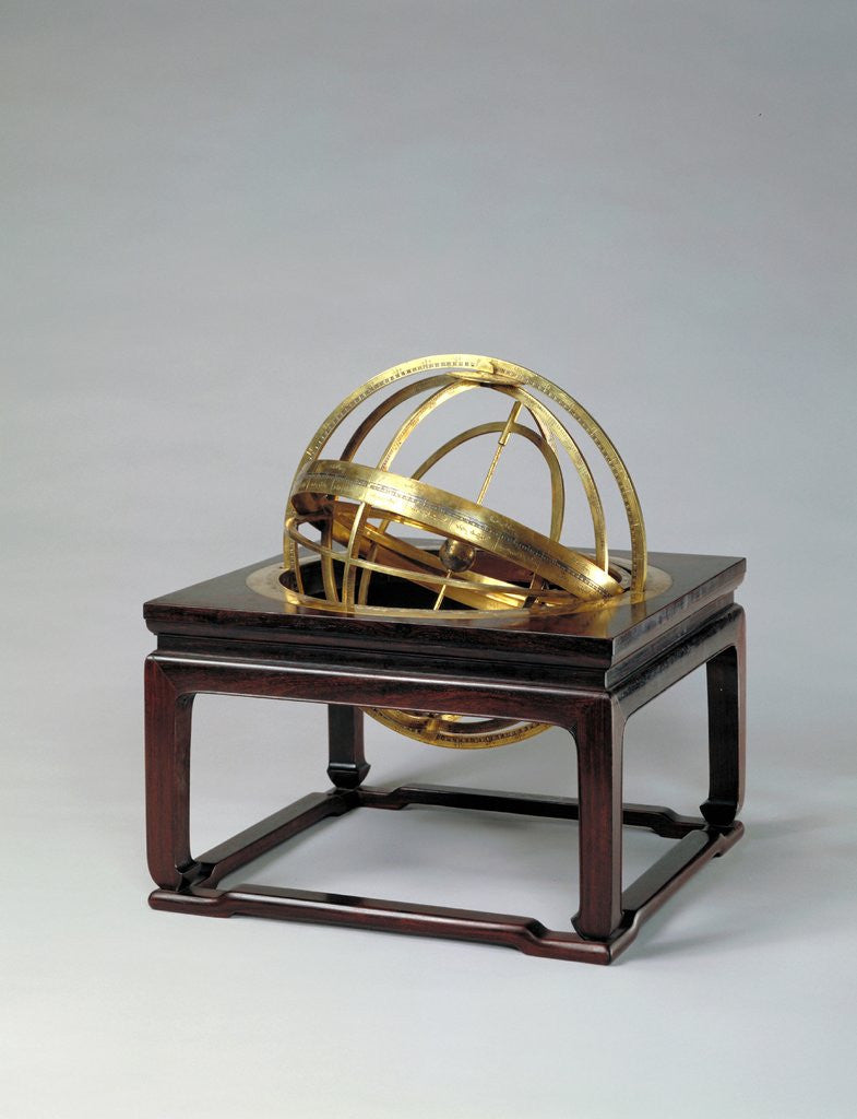 Detail of Armillary sphere by Ferdinand Verbiest