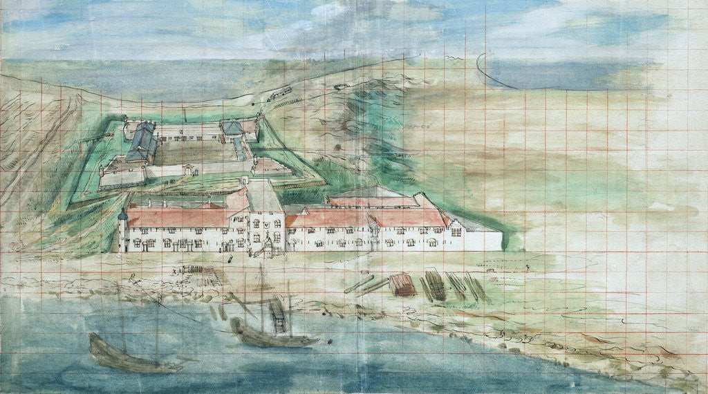 Detail of Painting of Fort Zeelandia by Corbis