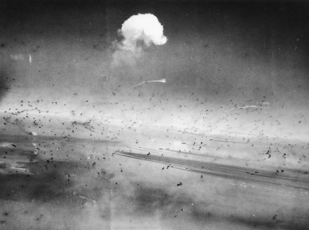 Detail of Curtain of Flak by Corbis