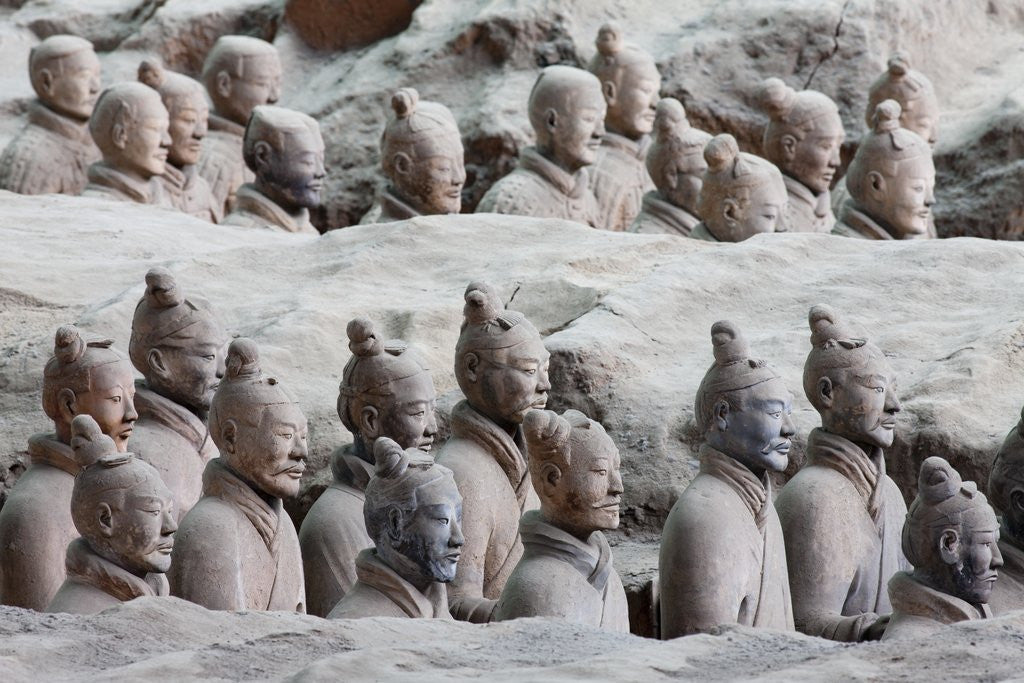 Detail of Terracotta soldiers at Qin Shi Huangdi Tomb by Corbis