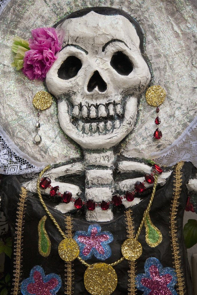 Detail of Day of the Dead skeleton art, Oaxaca, Mexico by Corbis
