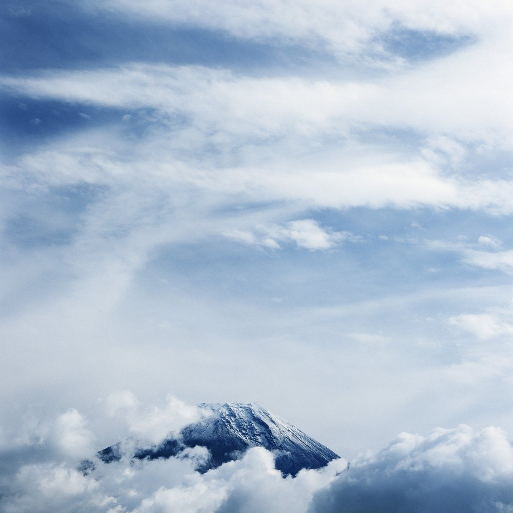 Detail of Clouds above Mount Fuji by Corbis