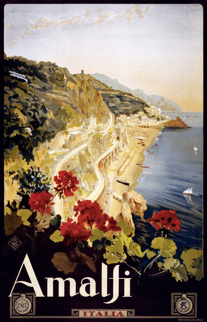 Detail of Amalfi poster by Corbis