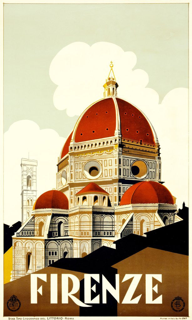 Detail of Firenze poster by Corbis