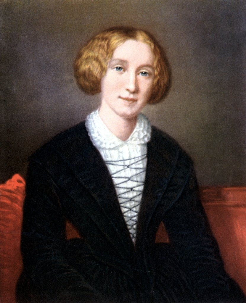Detail of George Eliot as a young woman by Corbis