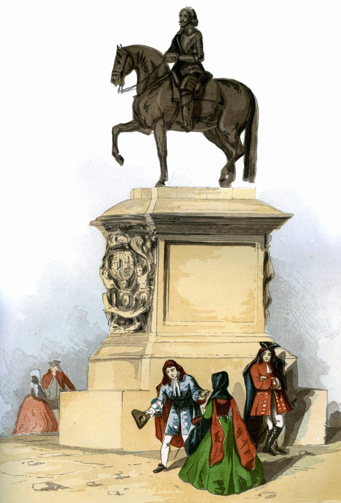 Detail of Equestrian statue of Charles I in Charing Cross by Corbis