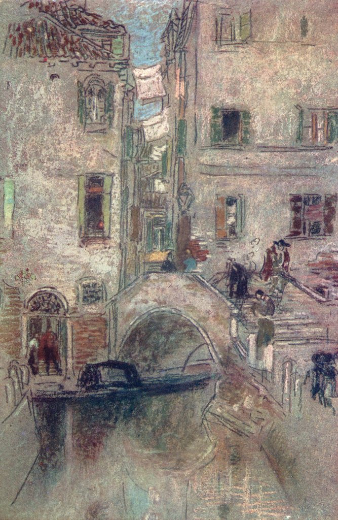 Detail of A Bye Canal, Venice by James Abbott McNeill Whistler