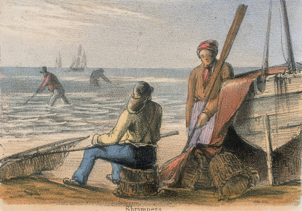 Detail of Shrimpers at work by Corbis