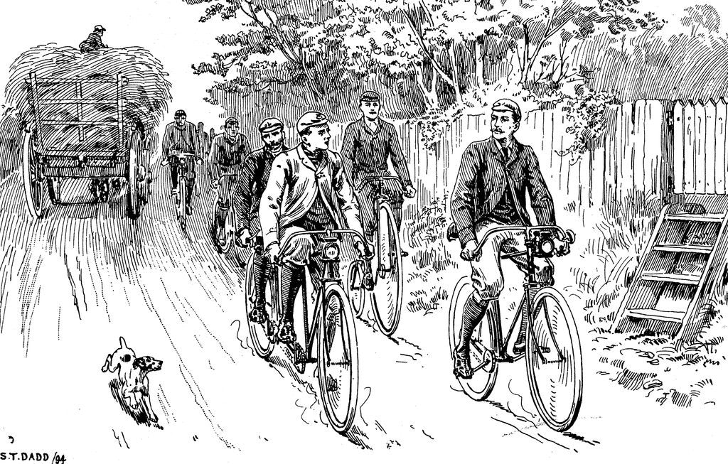 British cycle club out for a country ride by Corbis