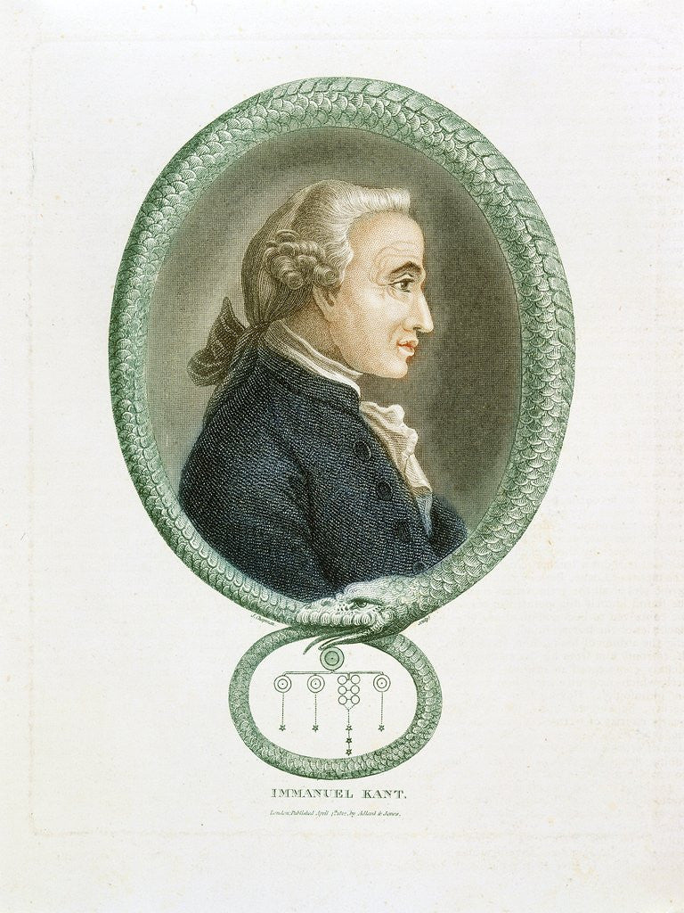 Detail of Immanuel Kant by Corbis