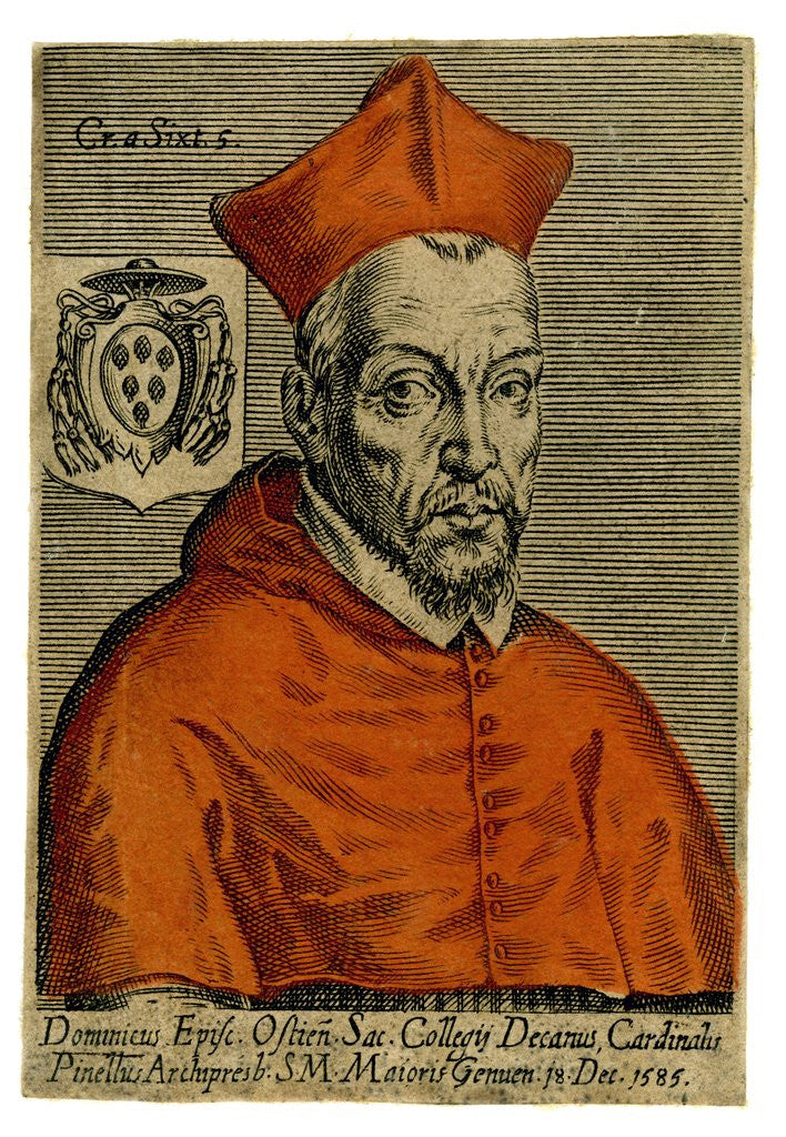 Detail of Cardinal Pinette by Corbis
