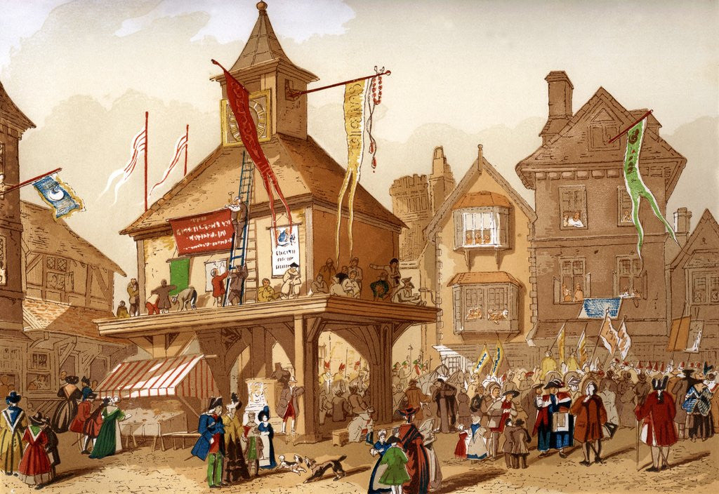 Detail of The Shakespeare Jubilee at Stratford upon Avon by Corbis
