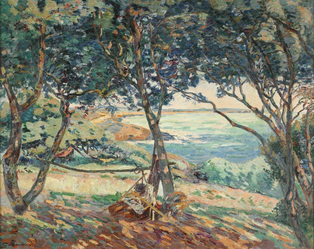 Detail of Paysage d'Agay by Armand Guillaumin