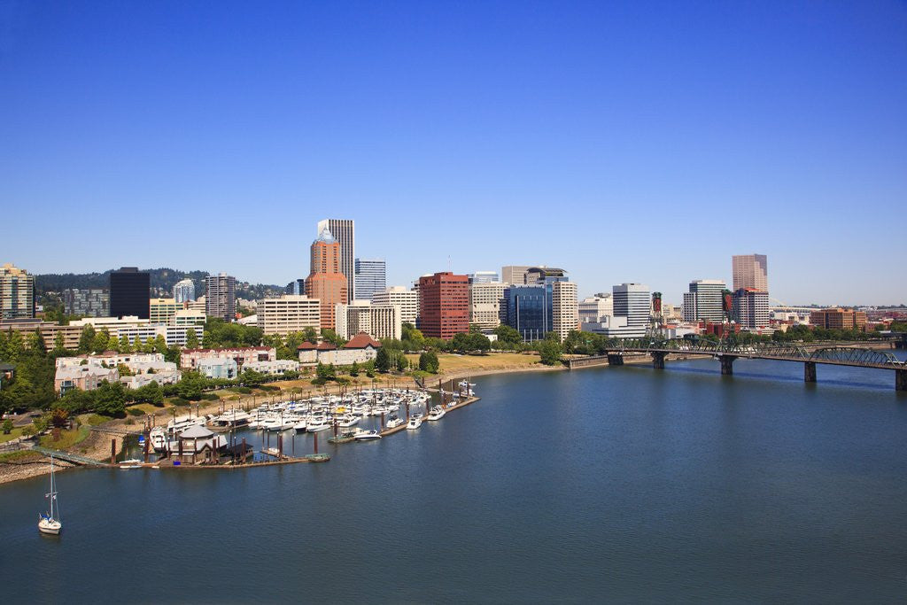 Detail of Portland Riverplace Marina, Portland, Oregon by Corbis