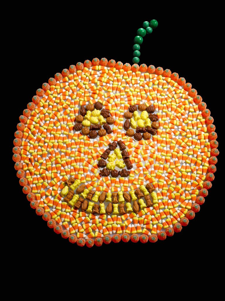 Detail of A Jack o'Lantern Made From Candy by Corbis