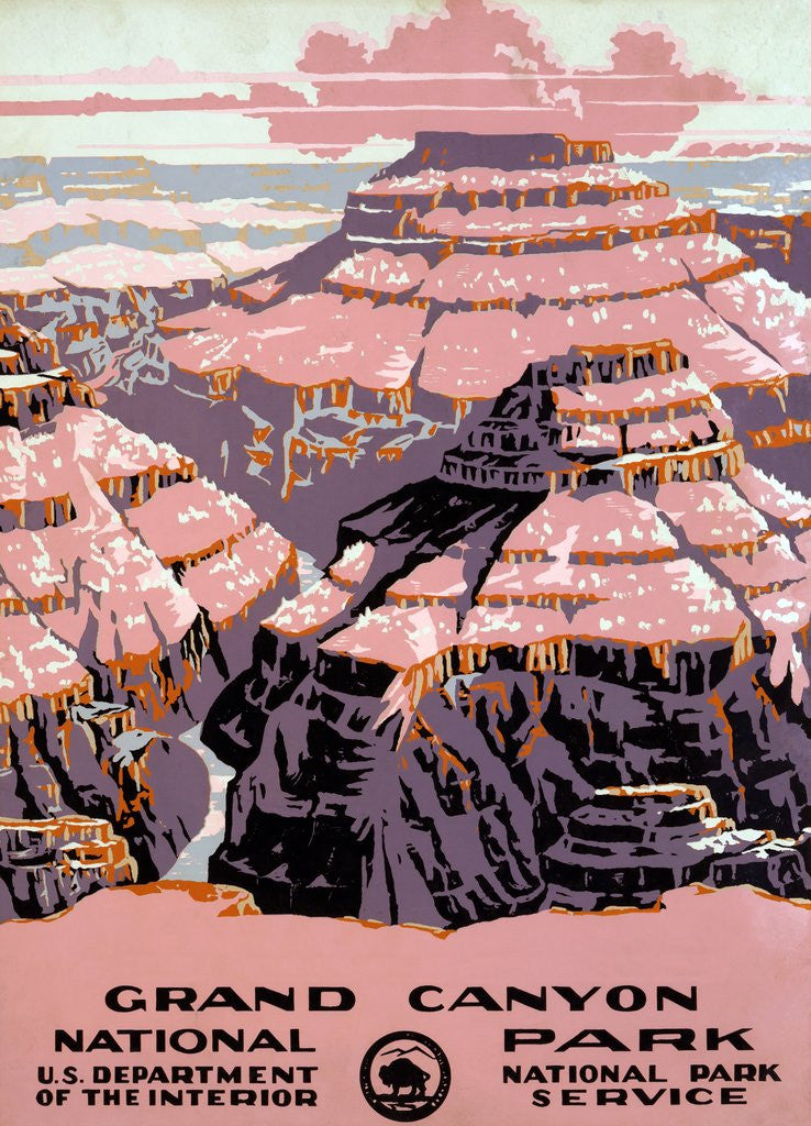 Detail of Grand Canyon travel poster by Corbis