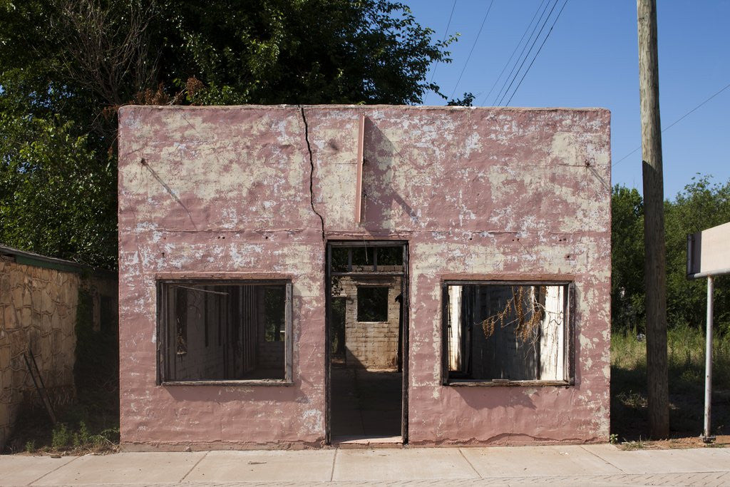 Detail of Ruins of abandoned store in Texas by Corbis