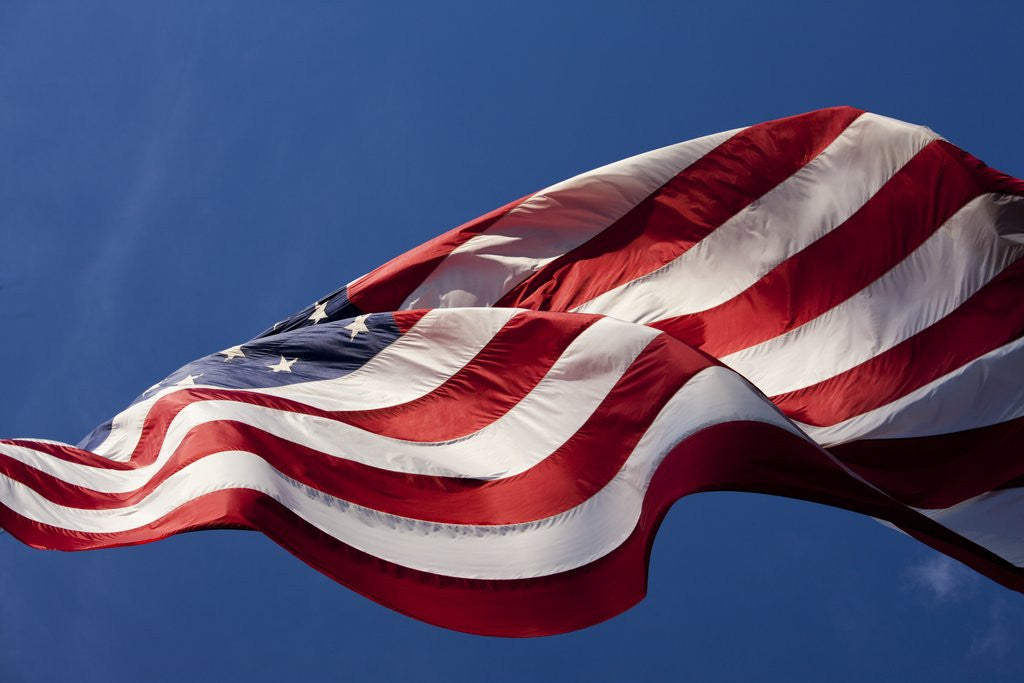 Detail of American Flag, Washington by Corbis