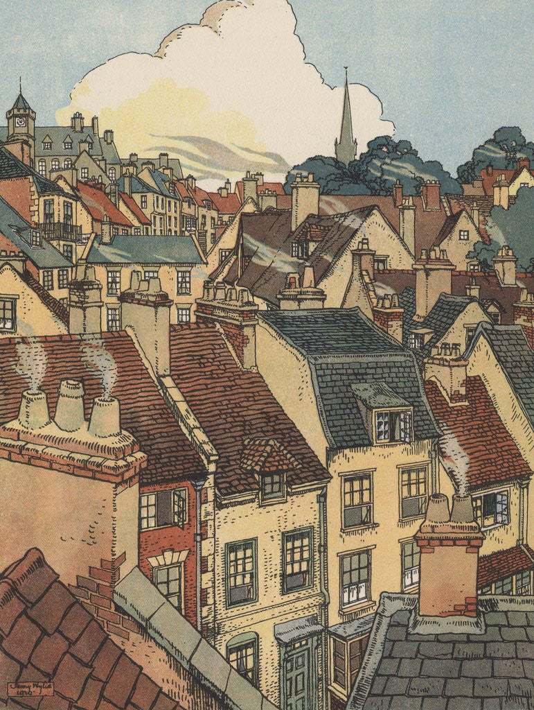 Detail of Rooftops of houses by Corbis