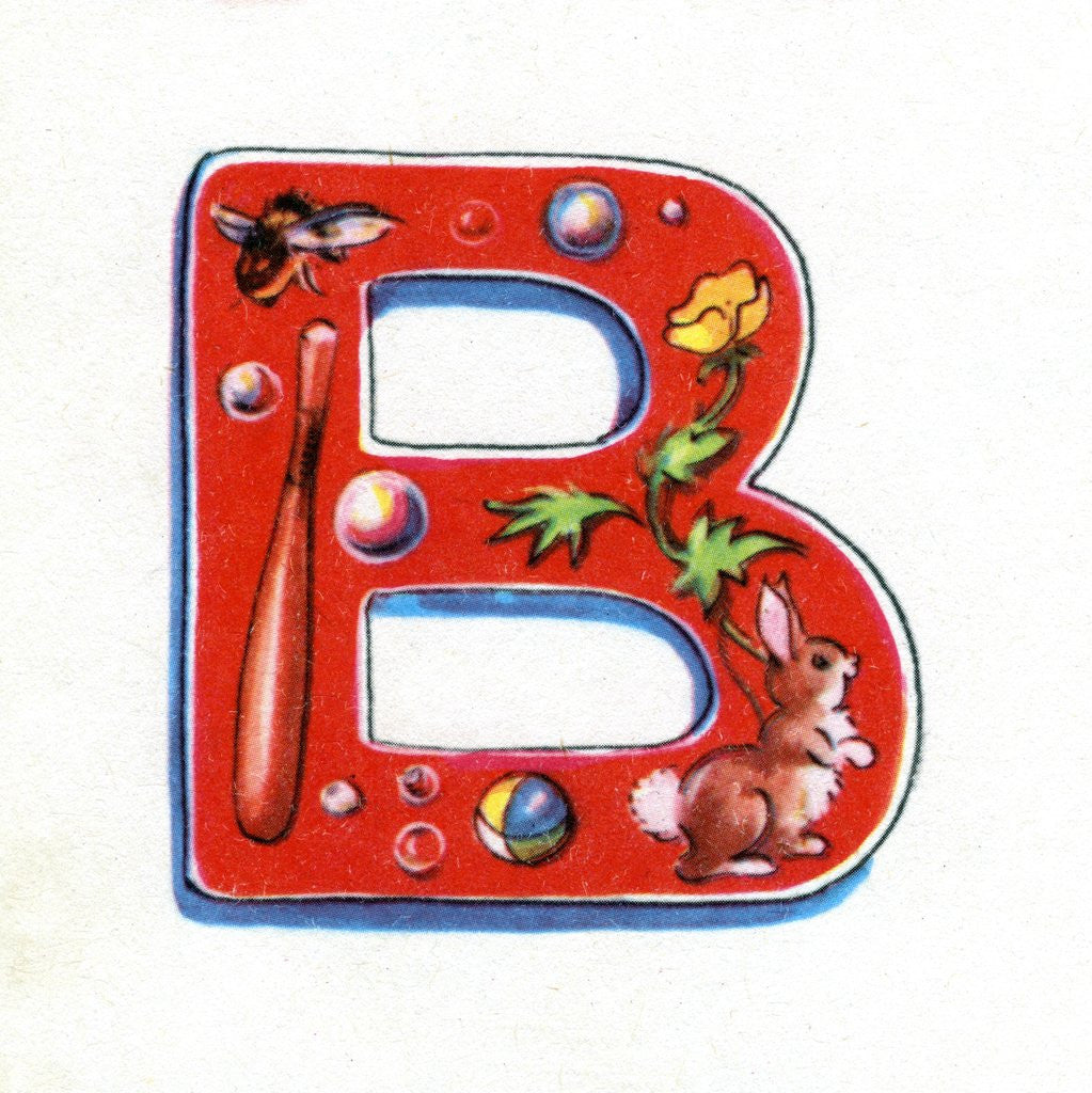 Detail of Letter B by Corbis