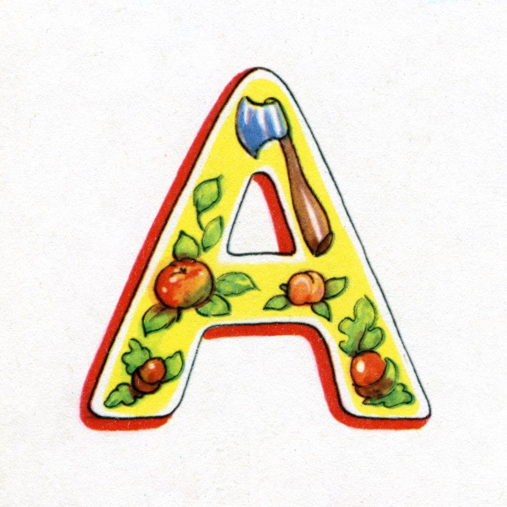 Detail of Letter A by Corbis
