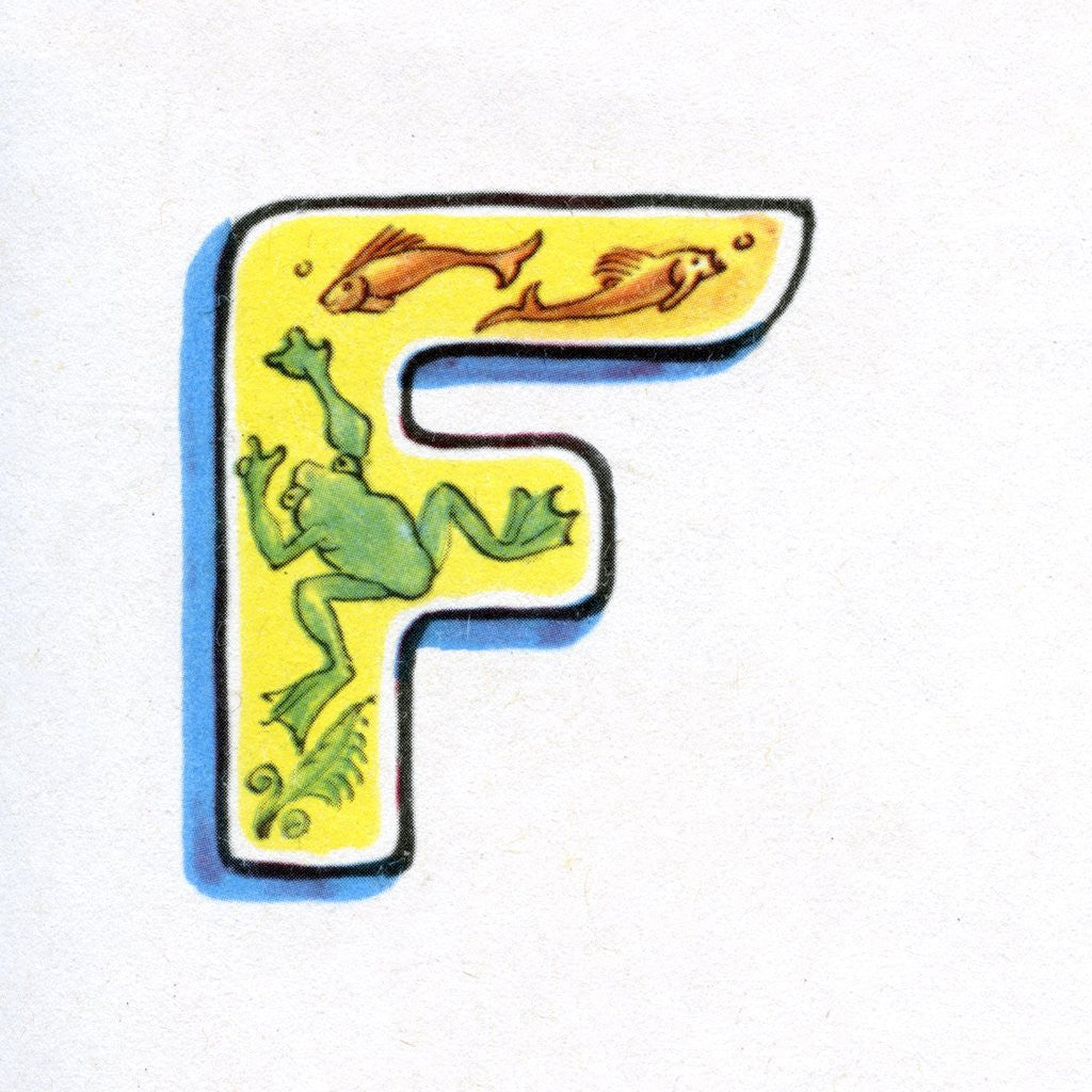 Detail of Letter F by Corbis