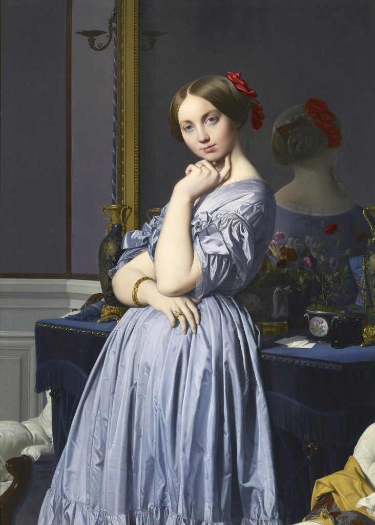 Detail of Comtesse d'Haussonville by Jean-Auguste-Dominique Ingres