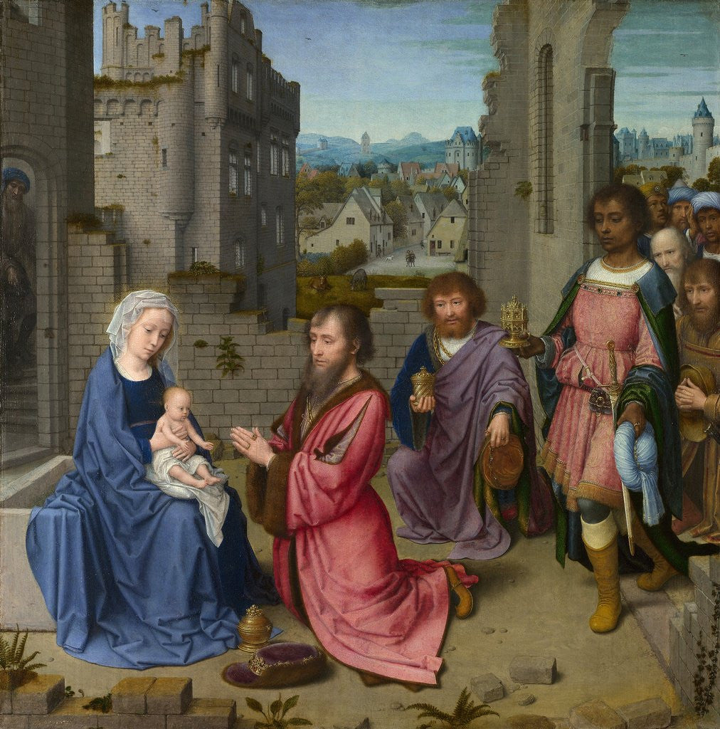 Detail of Adoration of the Kings by Gerard David