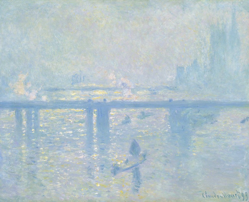 Detail of Charing Cross Bridge, London by Claude Monet