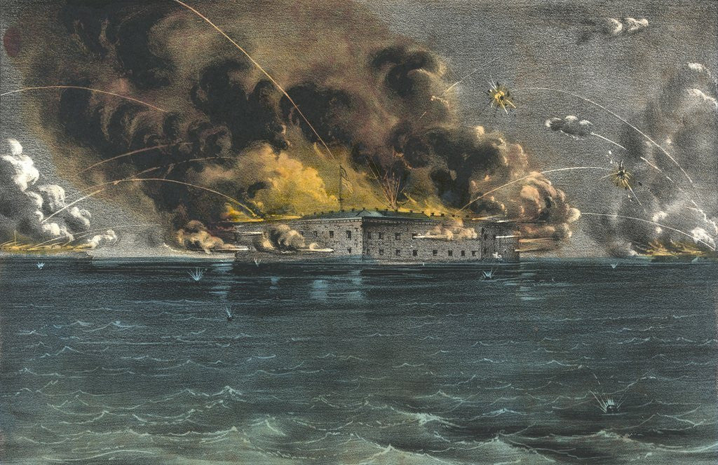Detail of Bombardment of Fort Sumter, Charleston Harbor by Corbis
