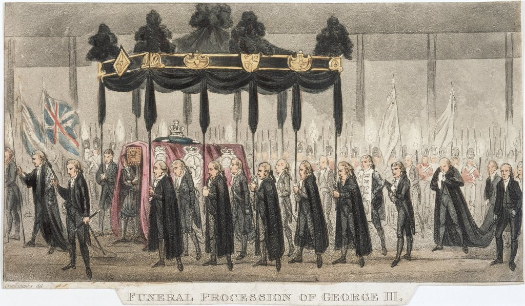 Detail of Funeral Procession of George III by Corbis