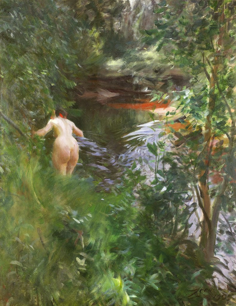 Detail of In Gopsmor (Nude by a Stream) by Anders Zorn