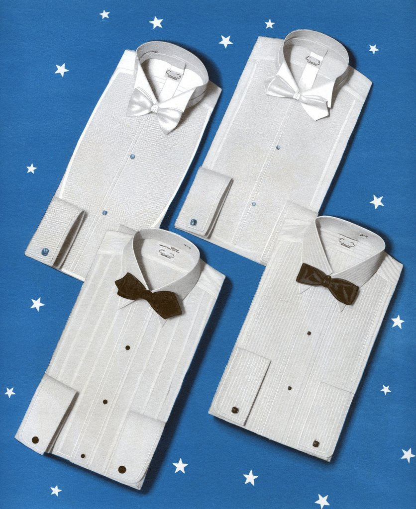Four men's formal shirts by Corbis