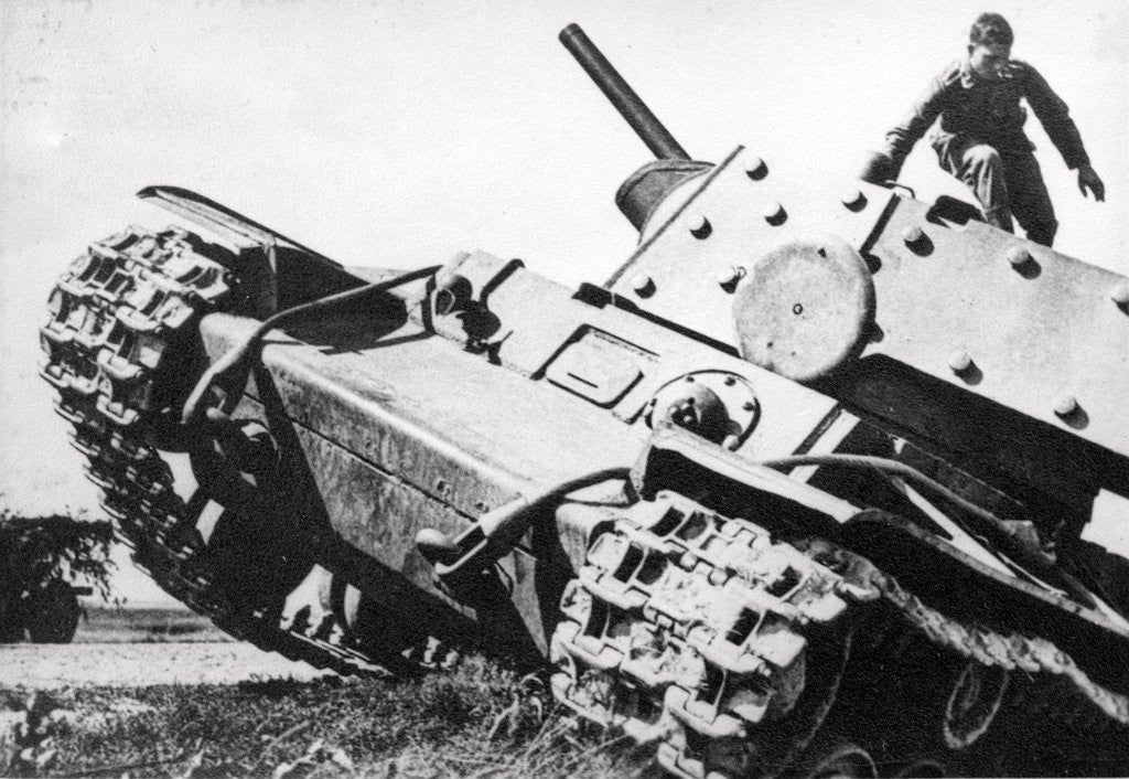 Detail of KV-1 Kliment Voroshilov heavy tank by Corbis