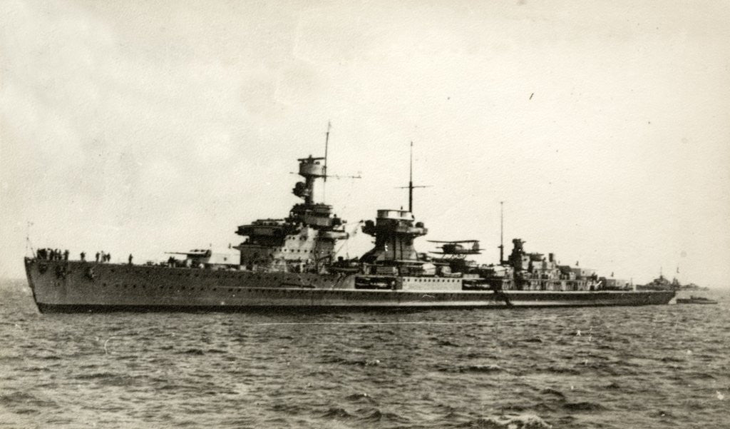 Detail of German light cruiser Nürnberg (Nuremberg in English) by Corbis