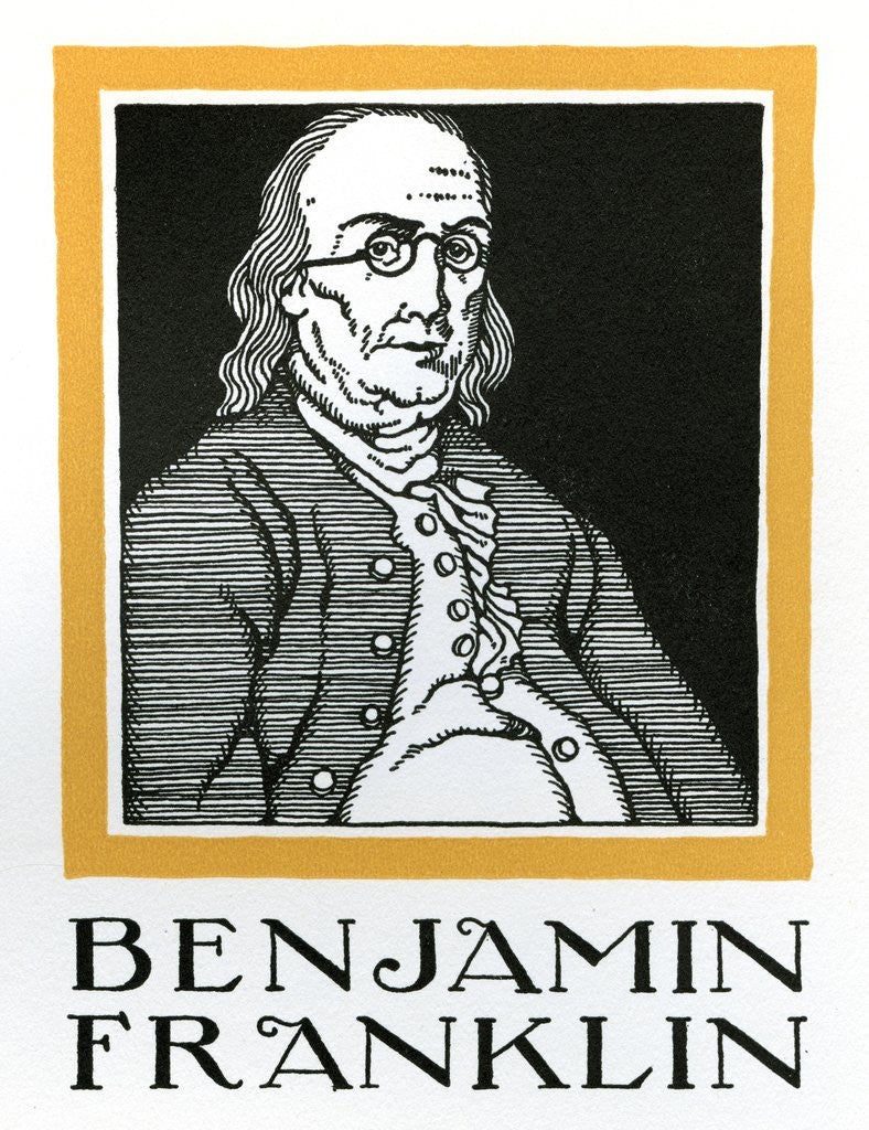 Detail of Benjamin Franklin by Corbis